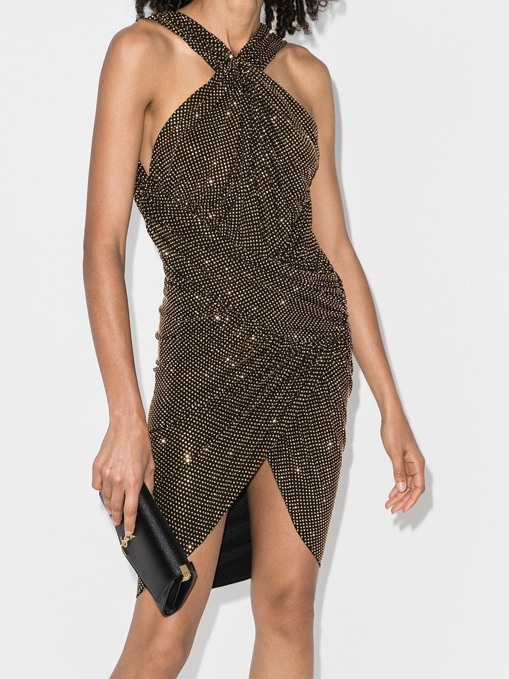 ALEXANDRE VAUTHIER Gathered Front Halterneck Mini Dress