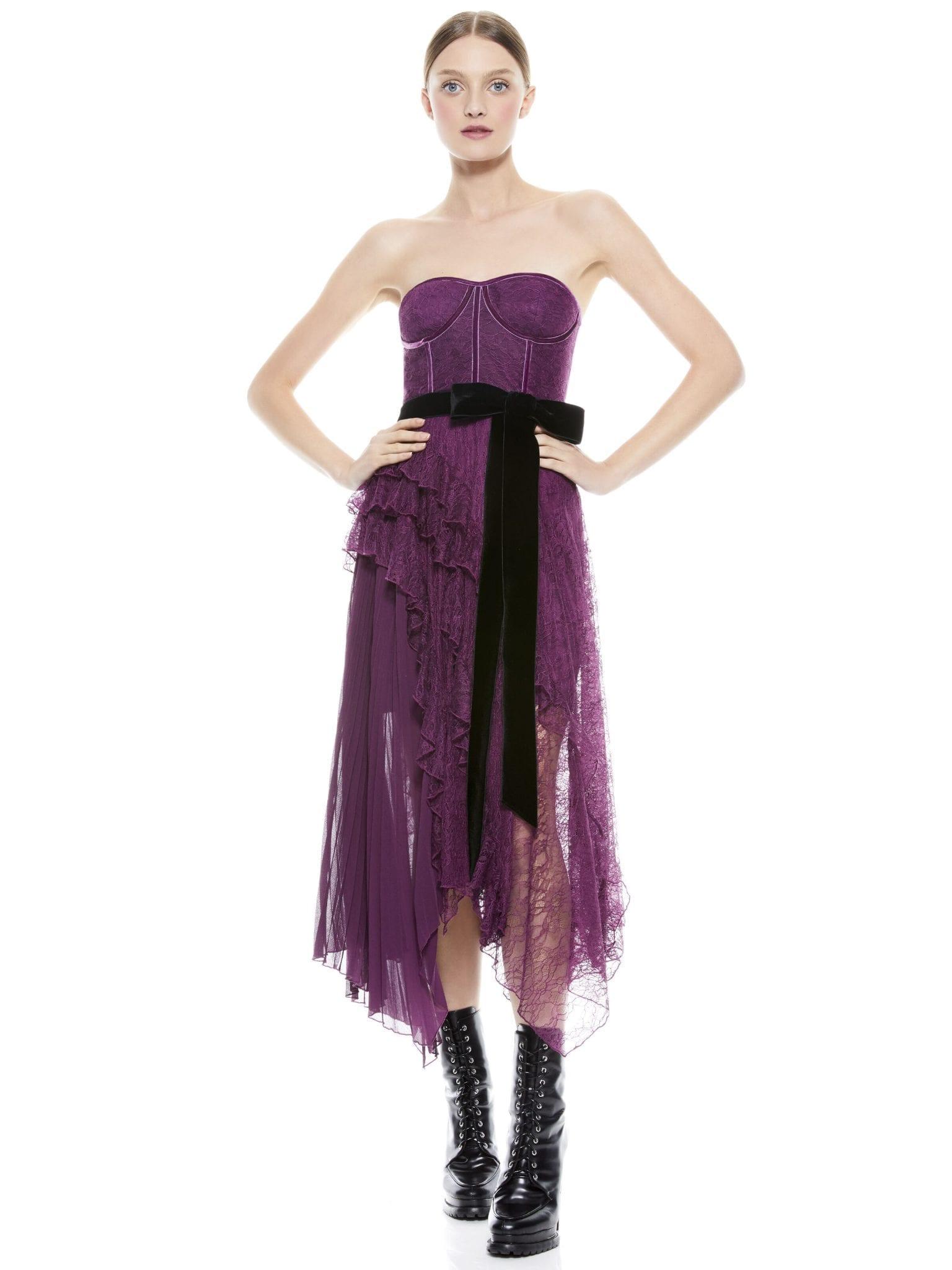 ALICE + OLIVIA Bree Bustier Maxi Dress