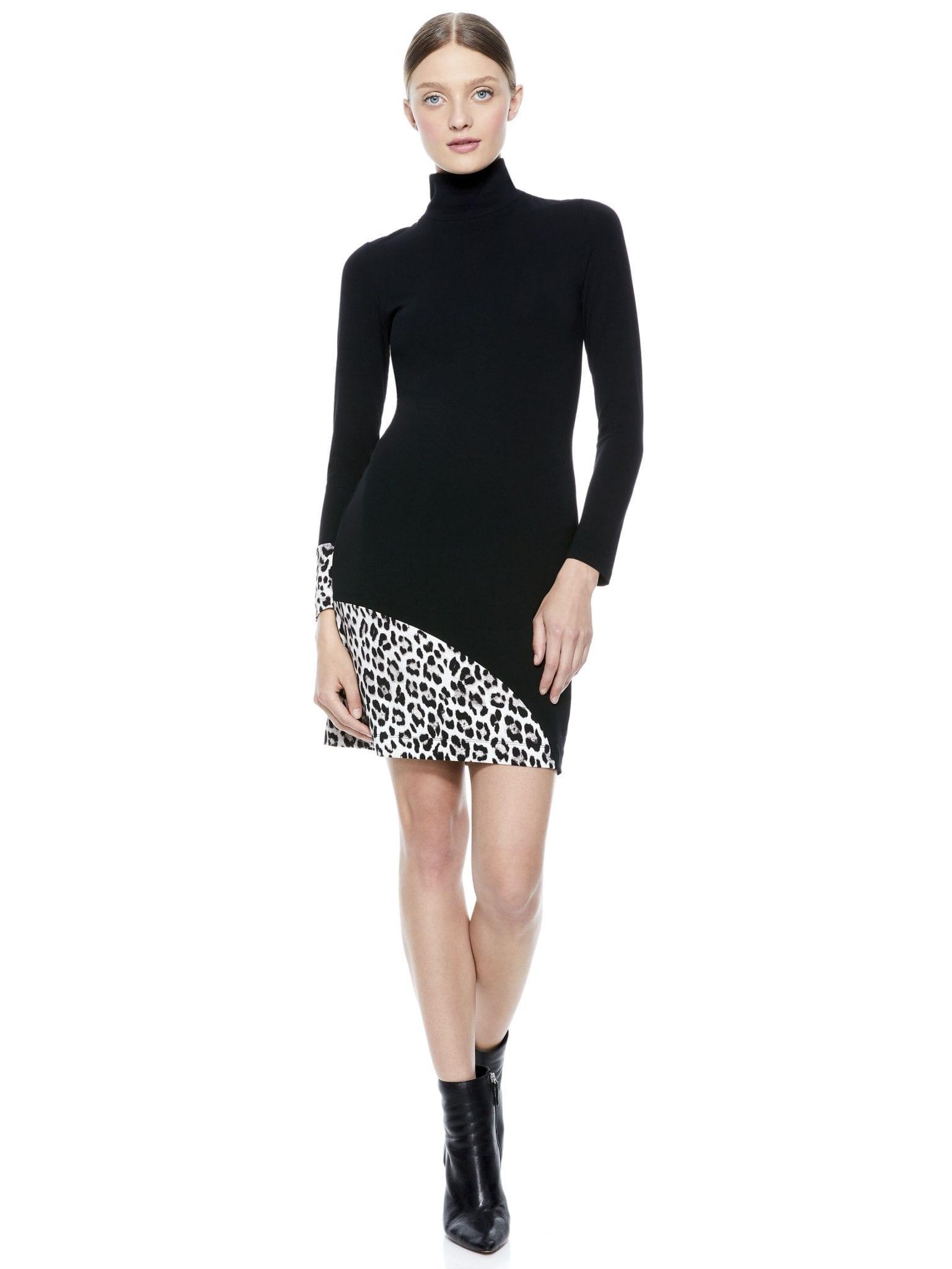 ALICE + OLIVIA Delora Turtleneck Mini Dress
