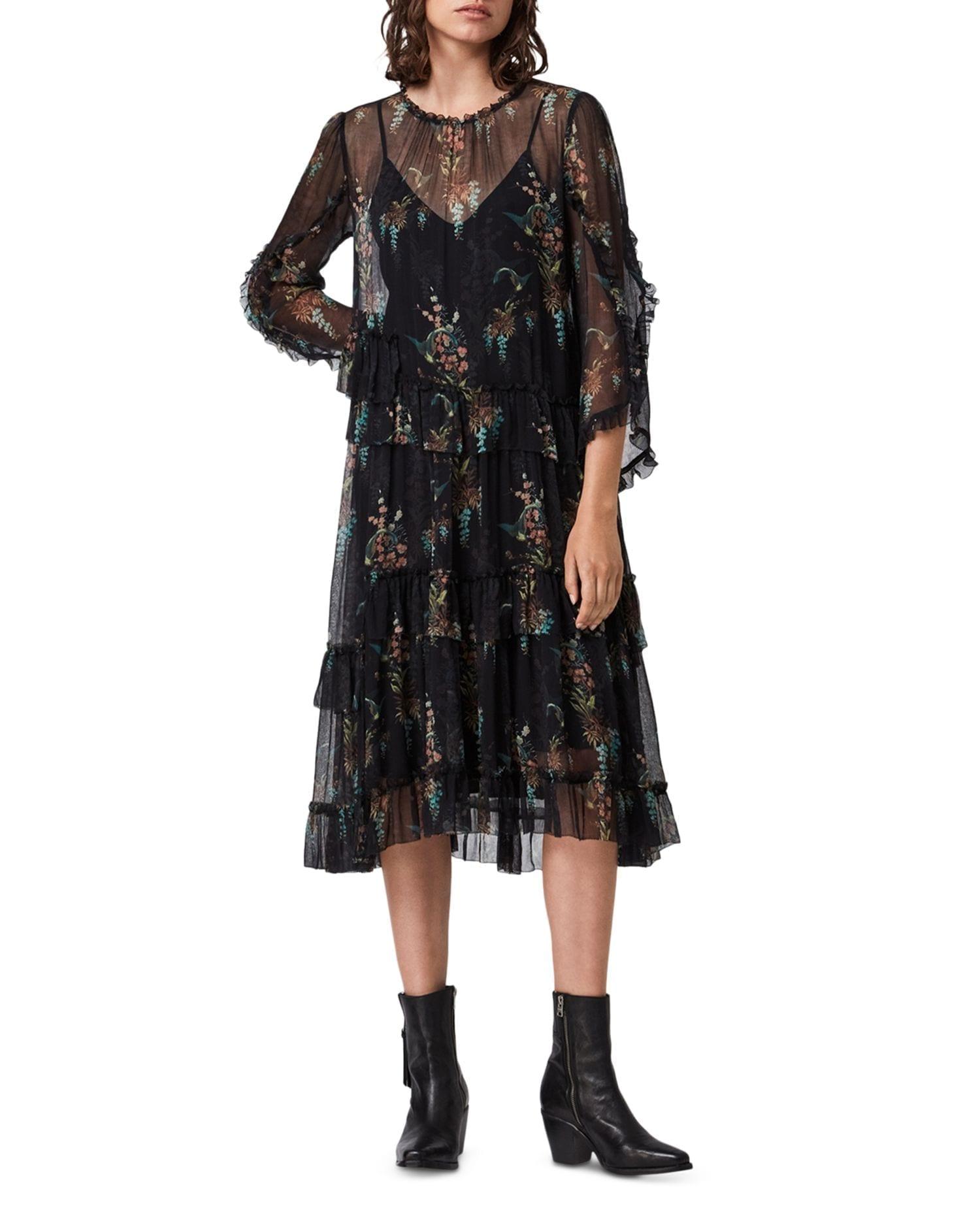 ALLSAINTS Macey Melisma Floral Print Dress