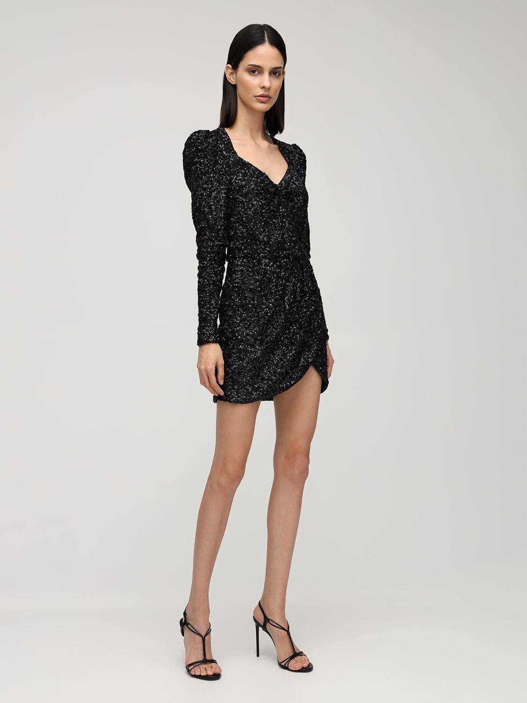 AMEN Sweetheart Sequined Mini Dress