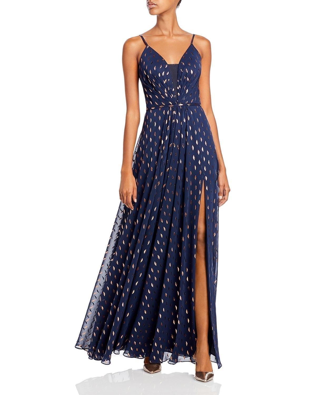 AQUA Printed Maxi Dress