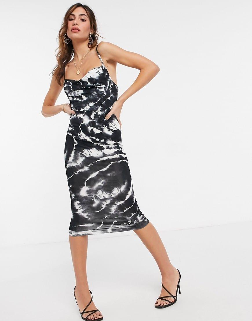 ASOS DESIGN Cami Cowl Neck Midi Dress