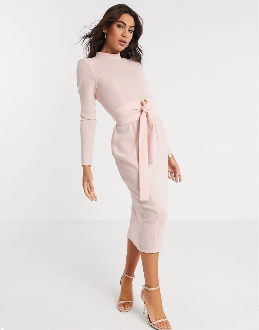 ASOS DESIGN Long Sleeve Midi Dress
