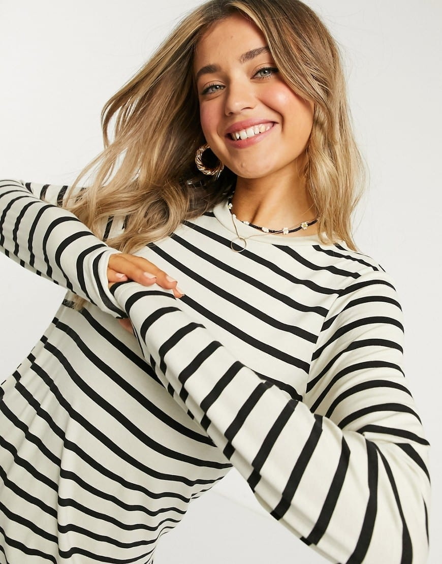 ASOS DESIGN Long Sleeve T-shirt Dress