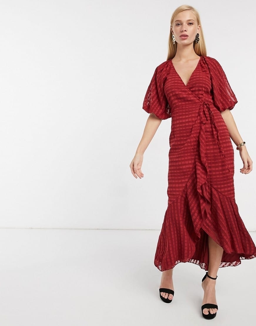 ASOS DESIGN Wrap Maxi Dress