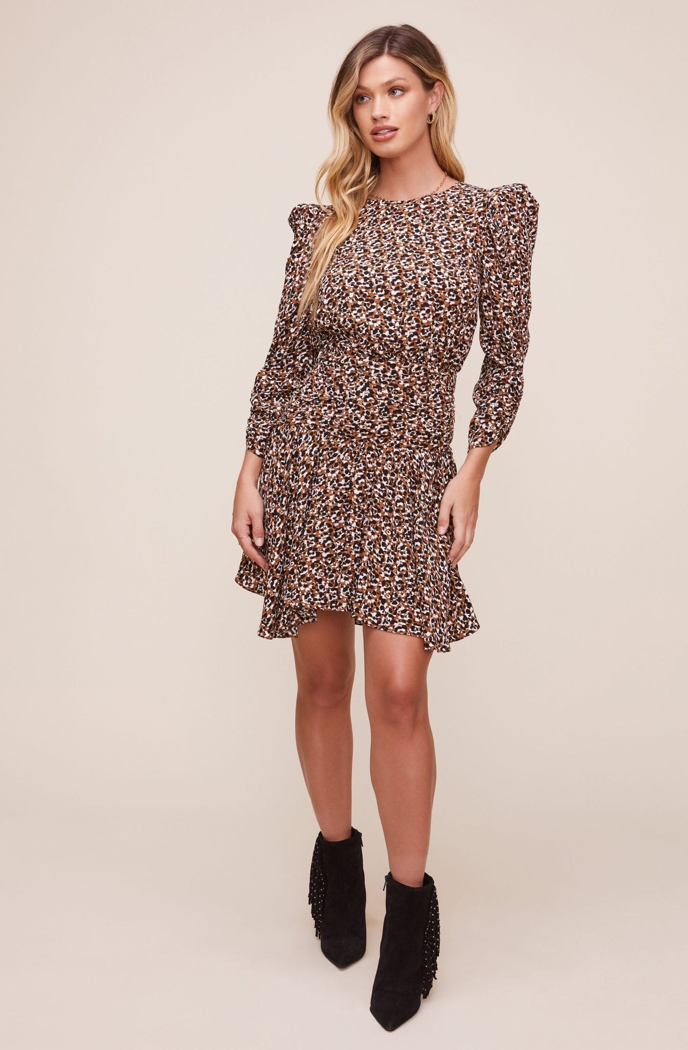 ASTRTHELABEL Savannah Animal Print Dress
