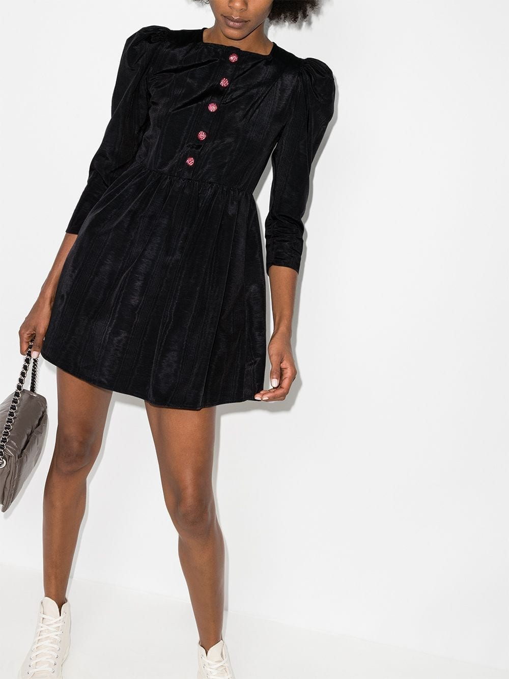 BATSHEVA Button-detail Mini Dress