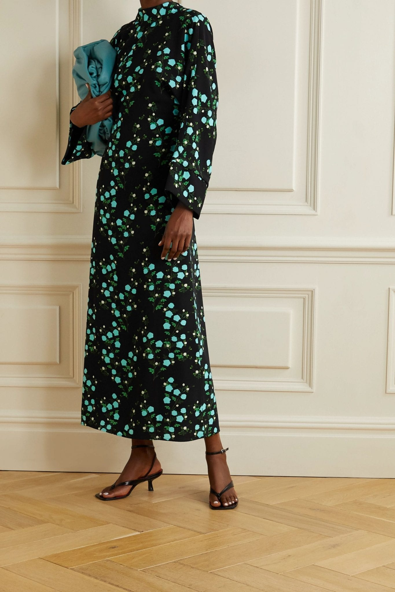 BERNADETTE Miranda Floral-print Crepe Midi Dress