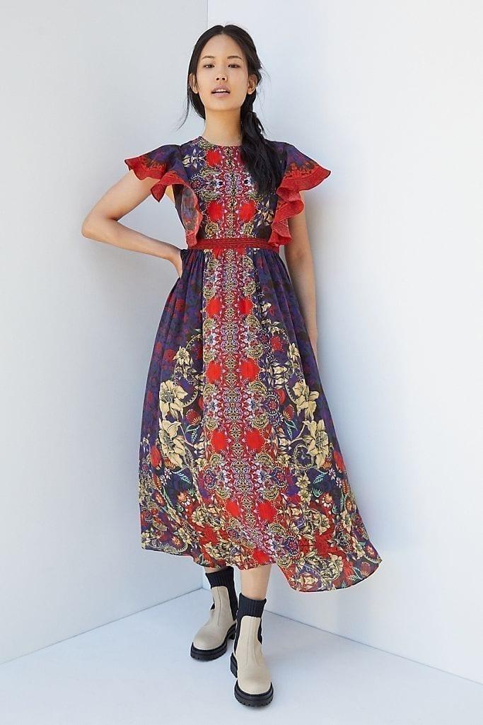 BHANUNI BY JYOTI Elaine Ruffled Maxi Dress