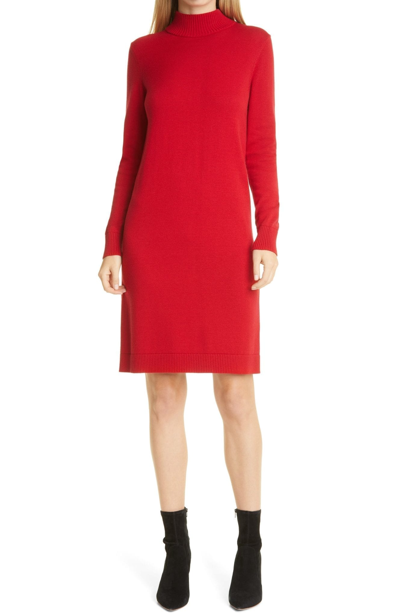 BOSS Fabelletta Long Sleeve Sweater Dress