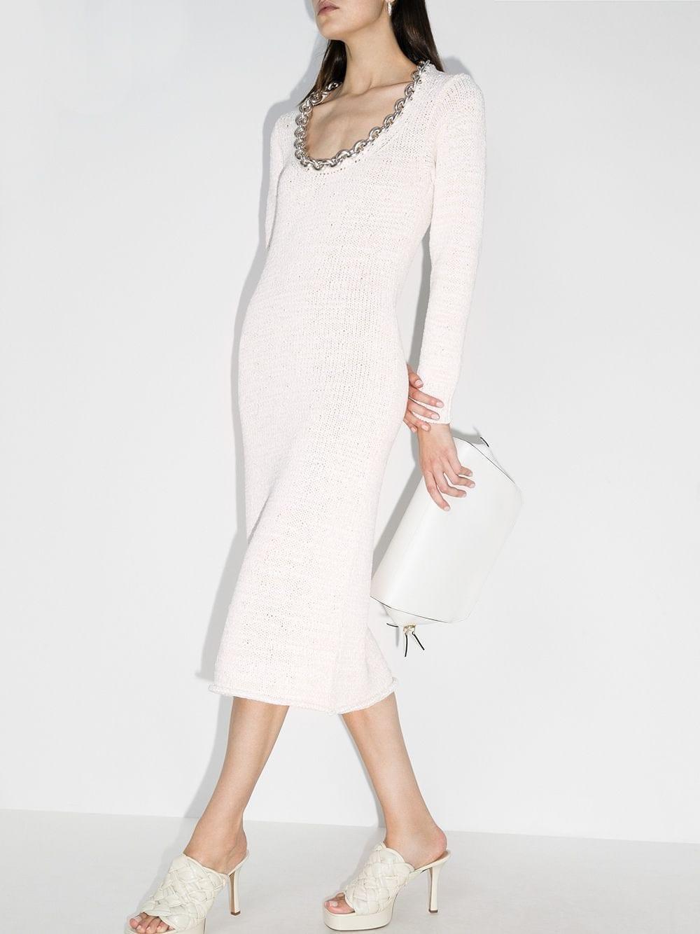 BOTTEGA VENETA Chain-trim Cotton Dress