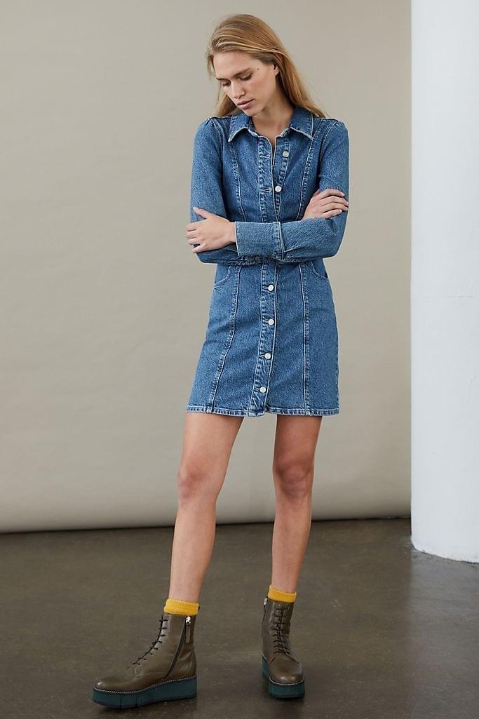 BOYISH Minka Mini Denim Shirt Dress