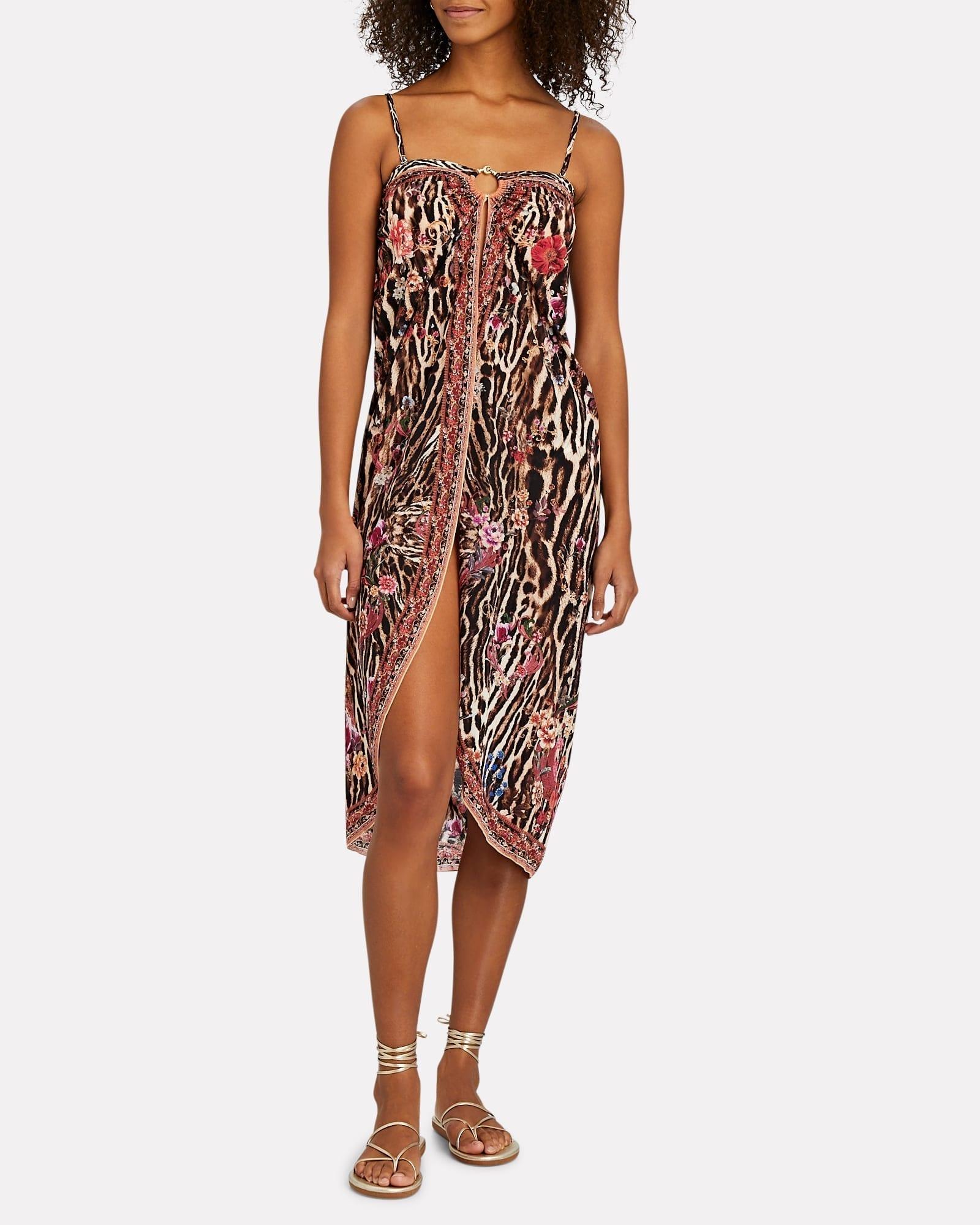 CAMILLA Leopard Printed Sarong Dress