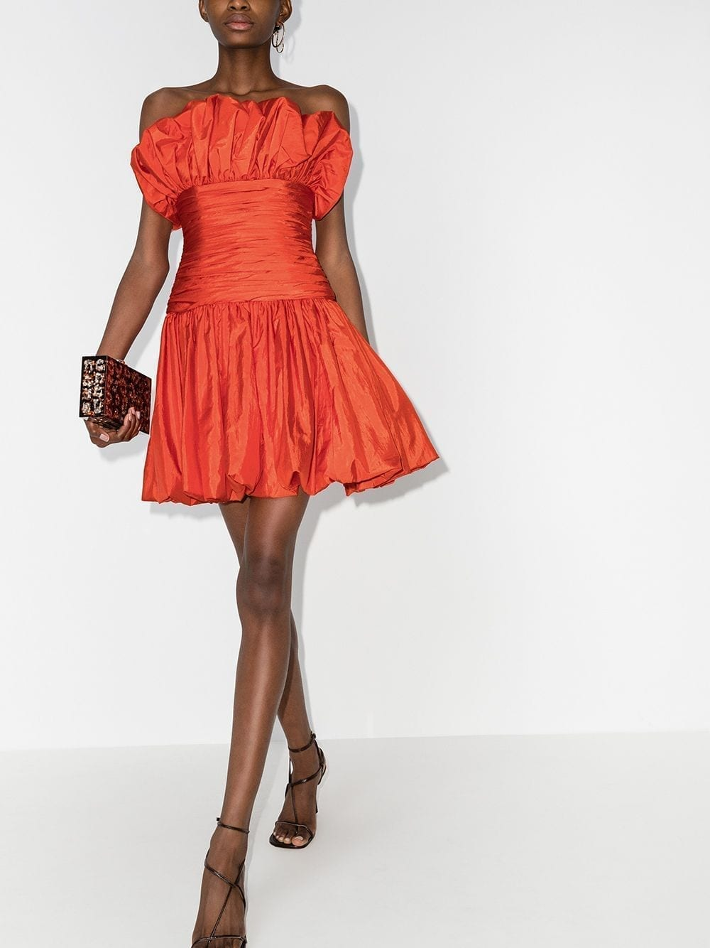 CAROLINA HERRERA Ruched Mini Dress
