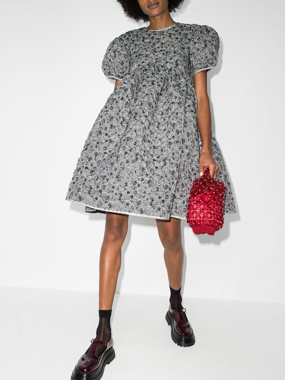 CECILIE BAHNSEN Bouclé-style Flared Dress