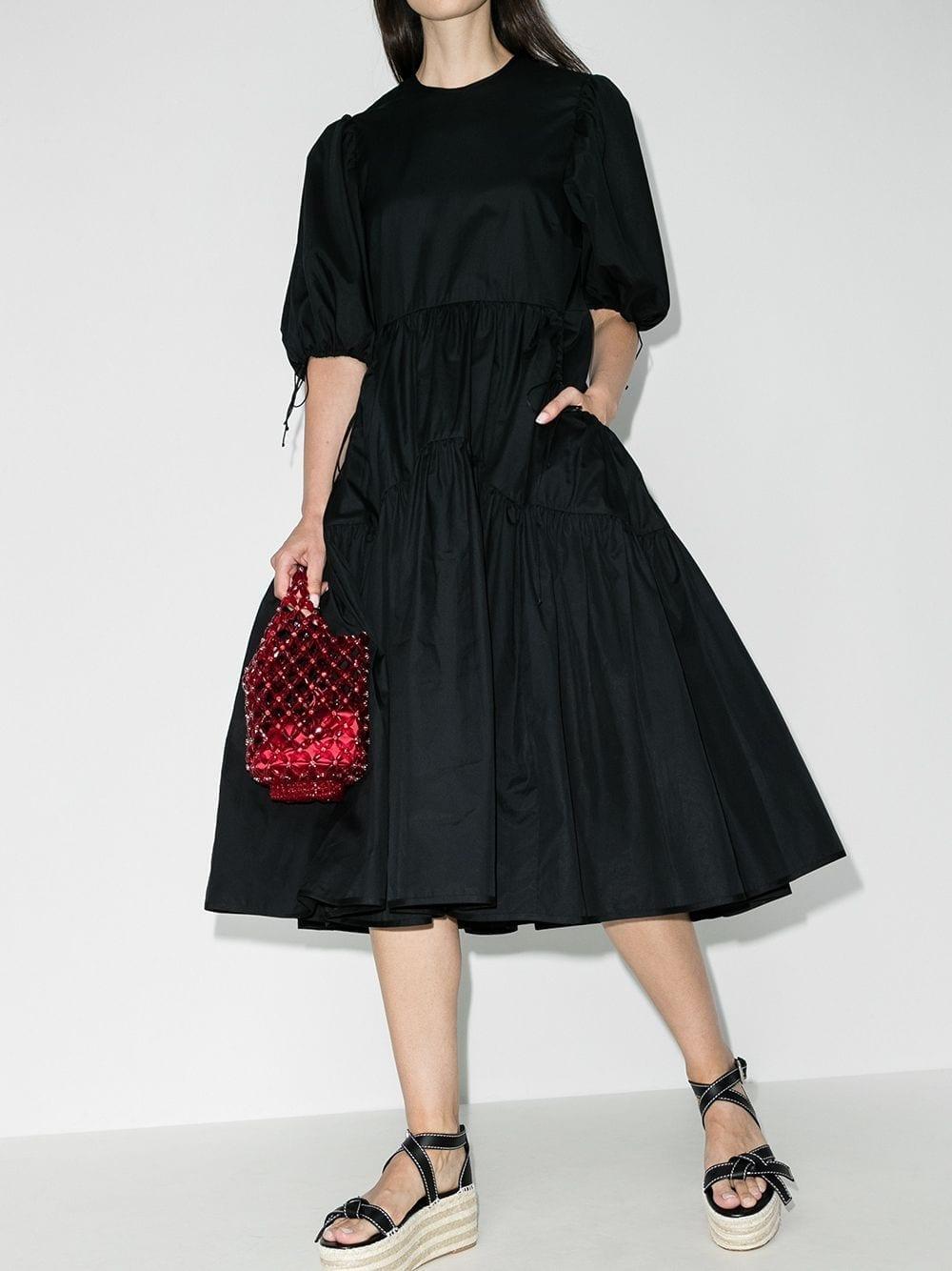 CECILIE BAHNSEN Libby Open-back Midi Dress