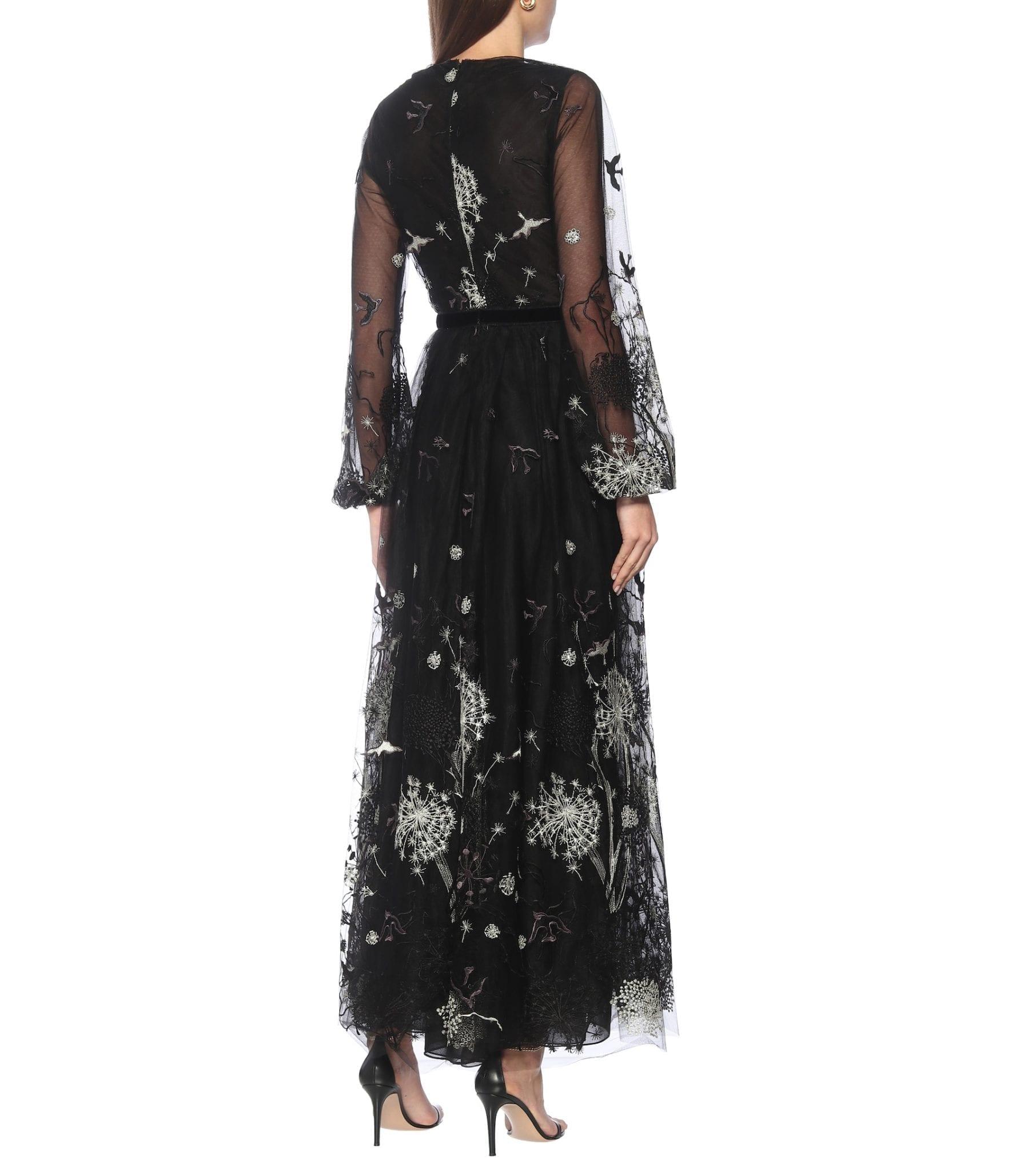 COSTARELLOS Midnight Storytelling Tulle Gown