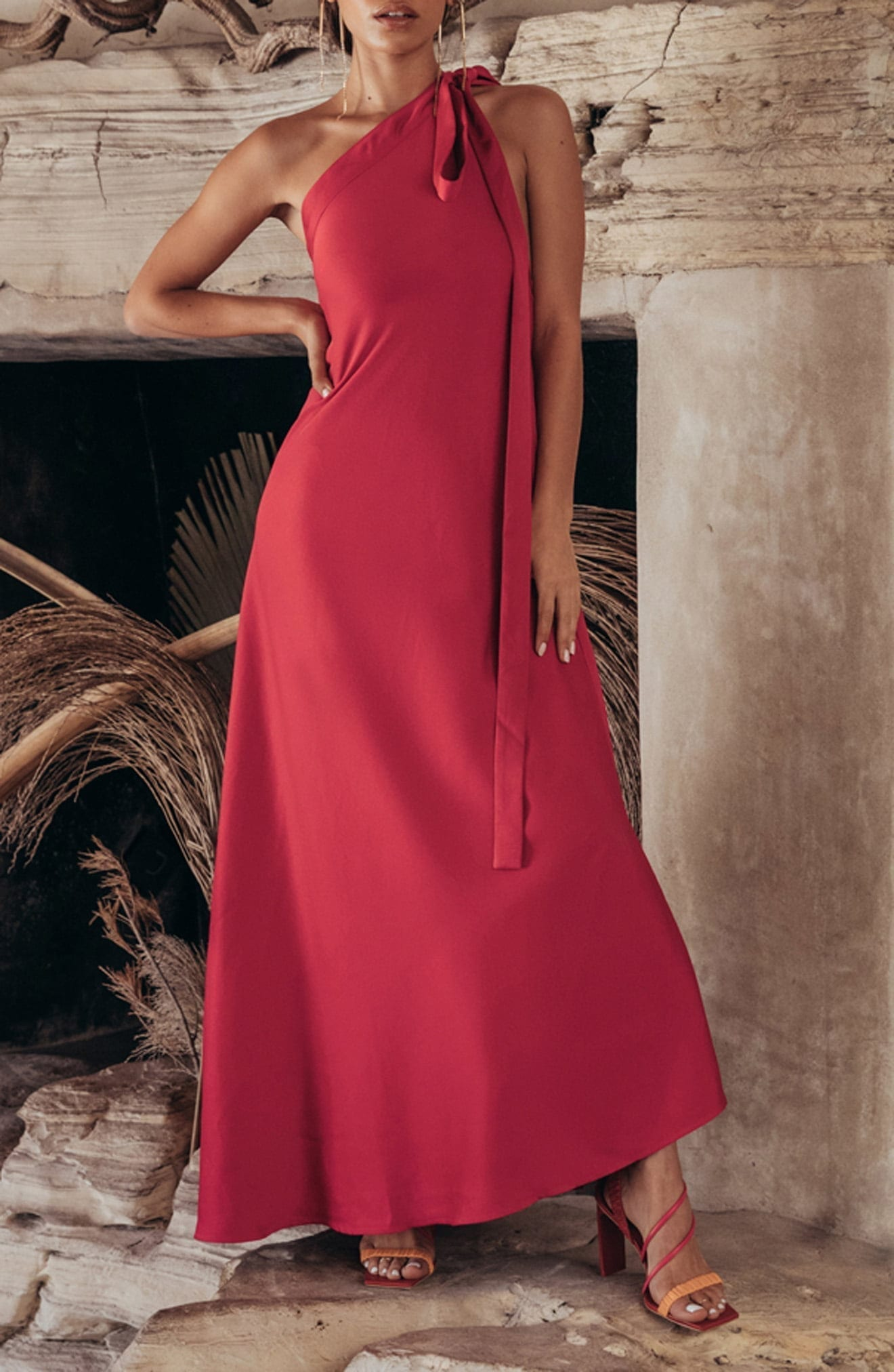 CULT GAIA Florence One-Shoulder Gown
