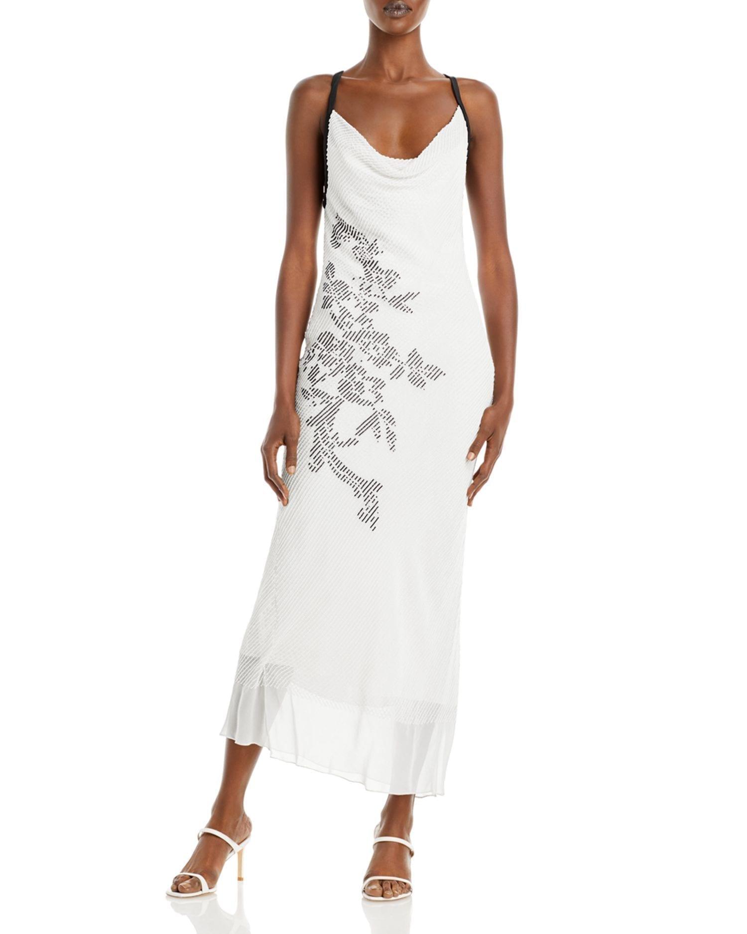CUSHNIE Silk Embroidered Pencil Dress