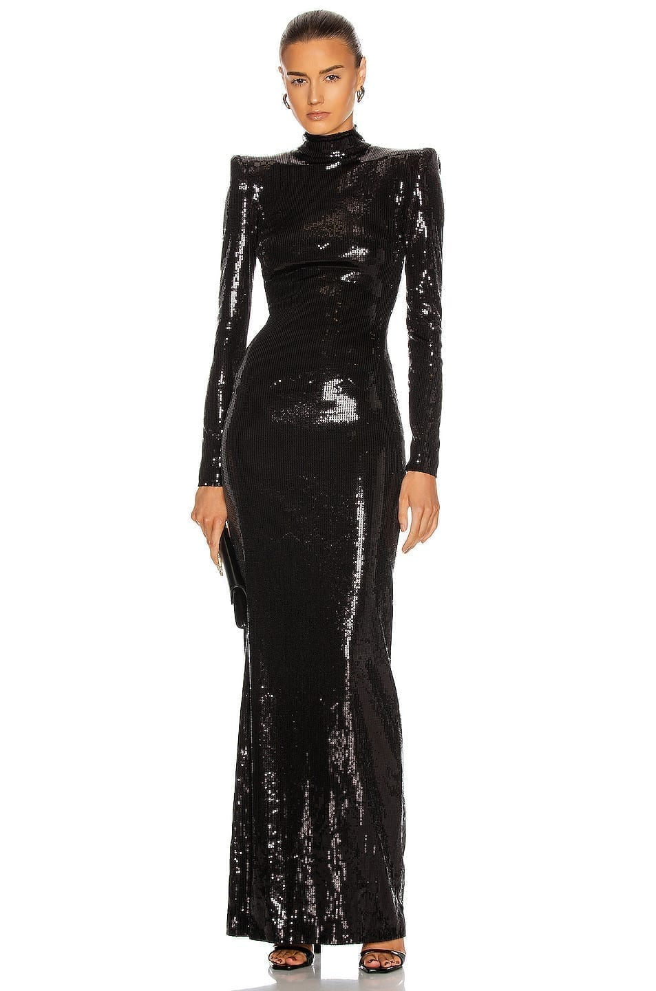DAVID KOMA Open Back Sequin Gown