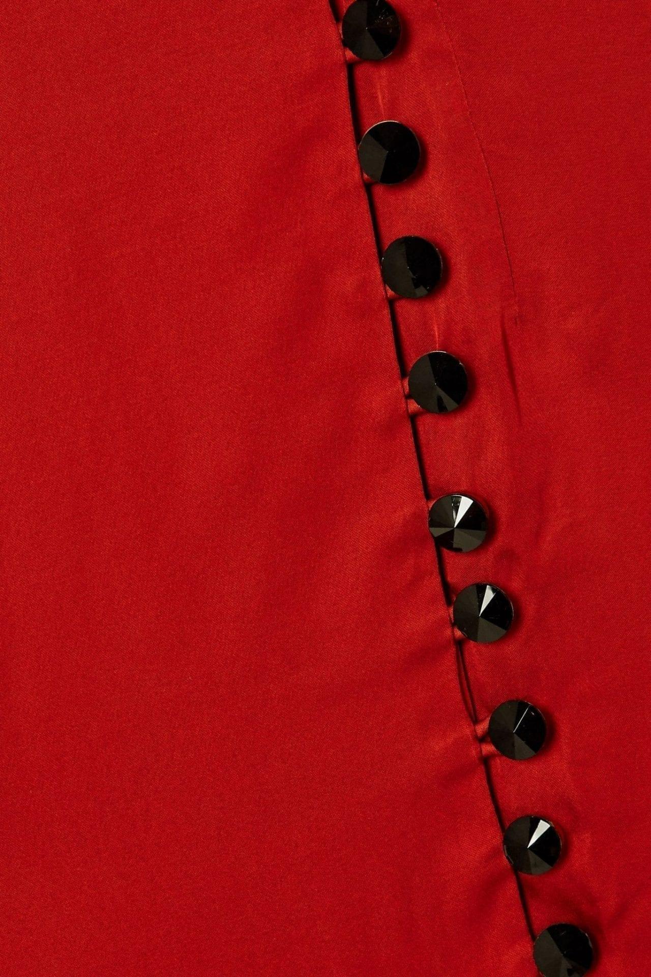 DE LA VALI Ohio Crystal-embellished Satin Maxi Dress