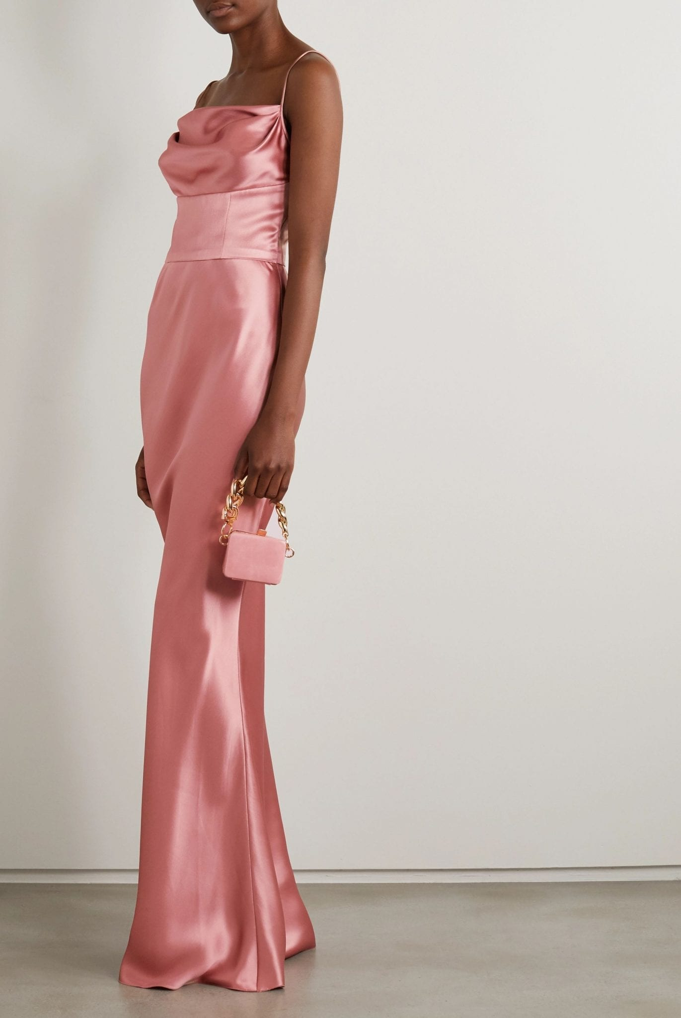 DOLCE & GABBANA Draped Silk-satin Gown