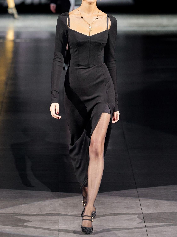 DOLCE & GABBANA Stretch Jersey Long Dress