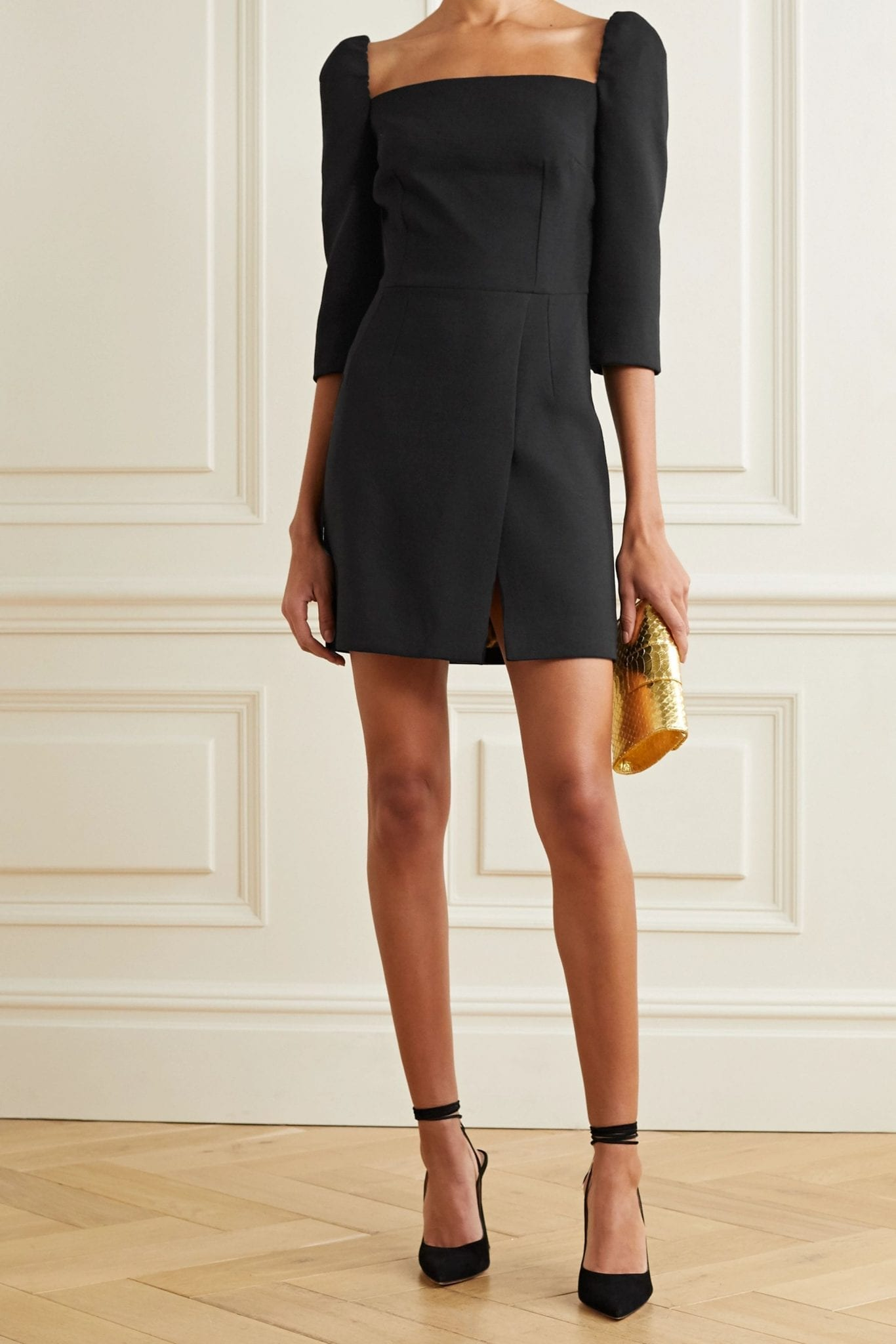 DOLCE & GABBANA Wool-blend Crepe Mini Dress