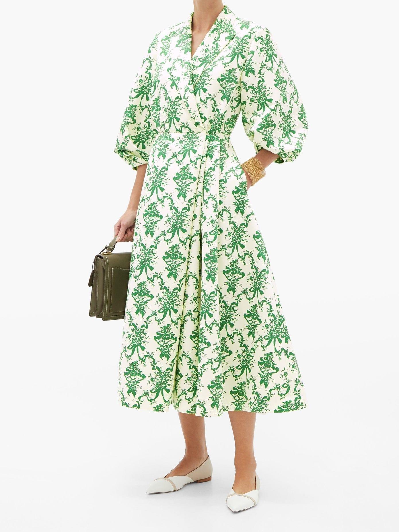EMILIA WICKSTEAD Goldie Floral-print Faille Blazer Dress