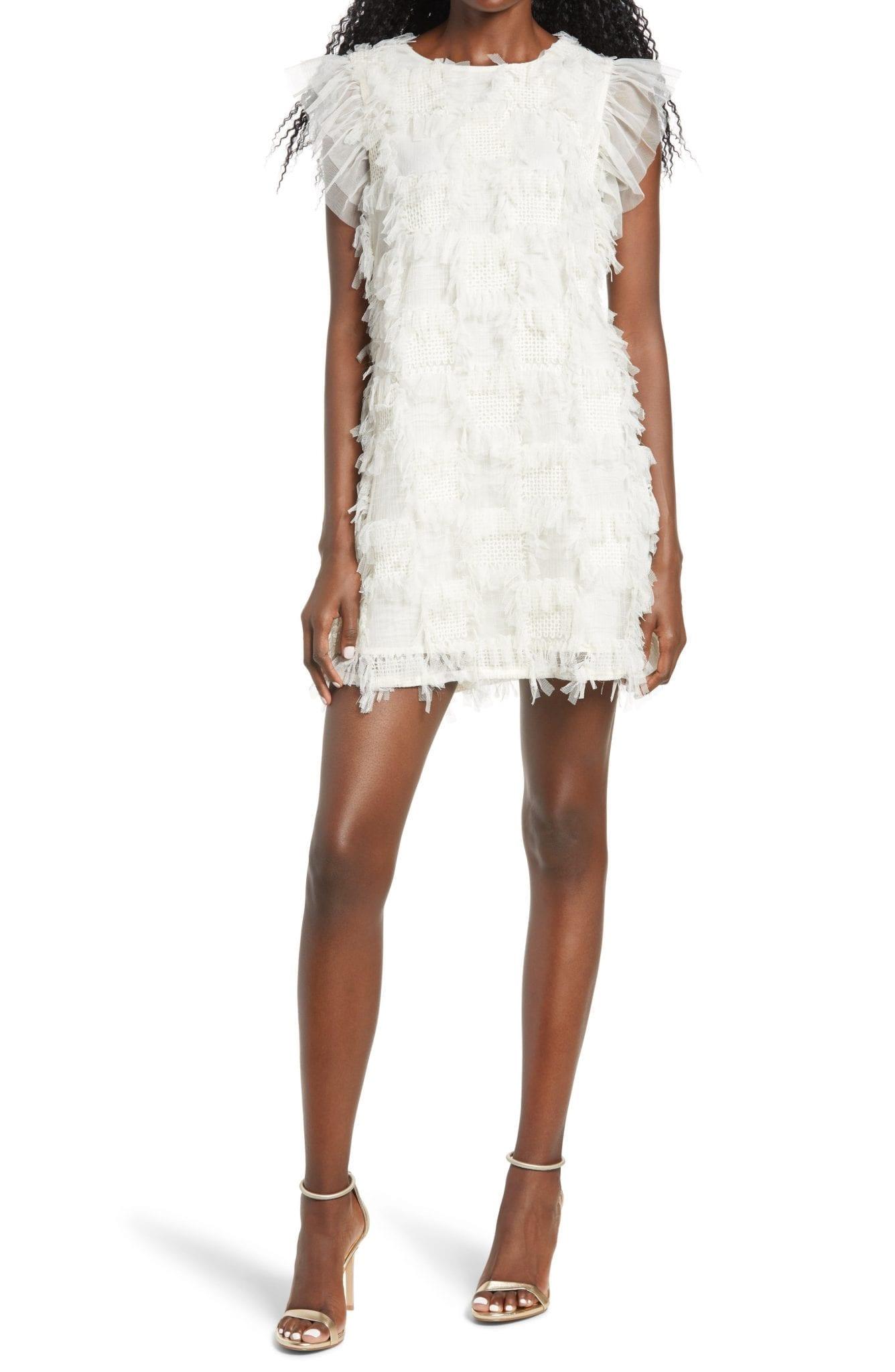 ENGLISH FACTORY Embellished Mini Dress