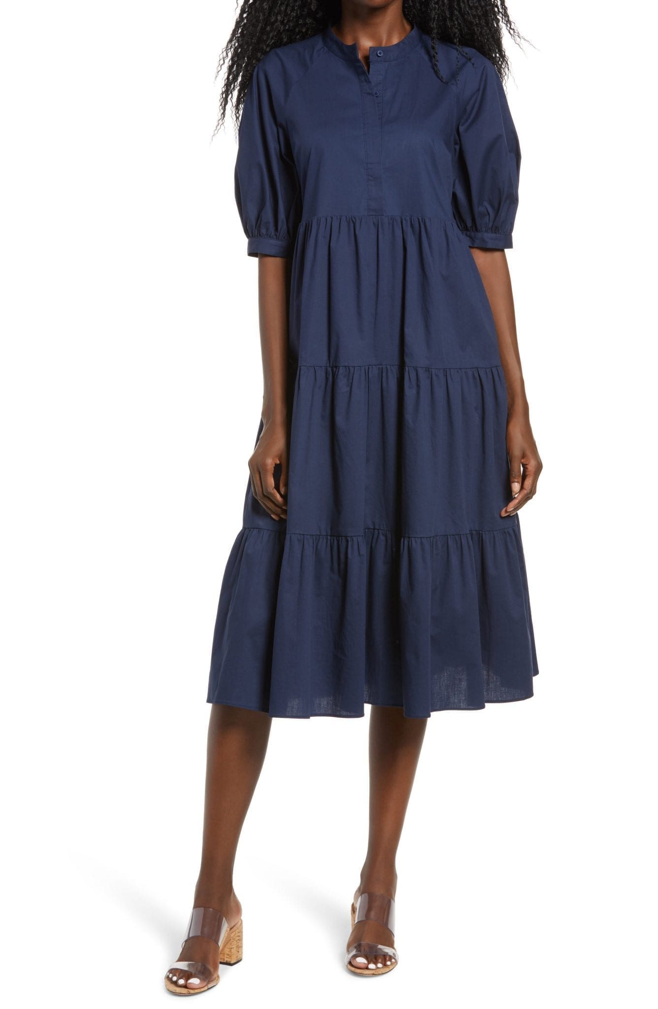 ENGLISH FACTORY Puff Sleeve Dress