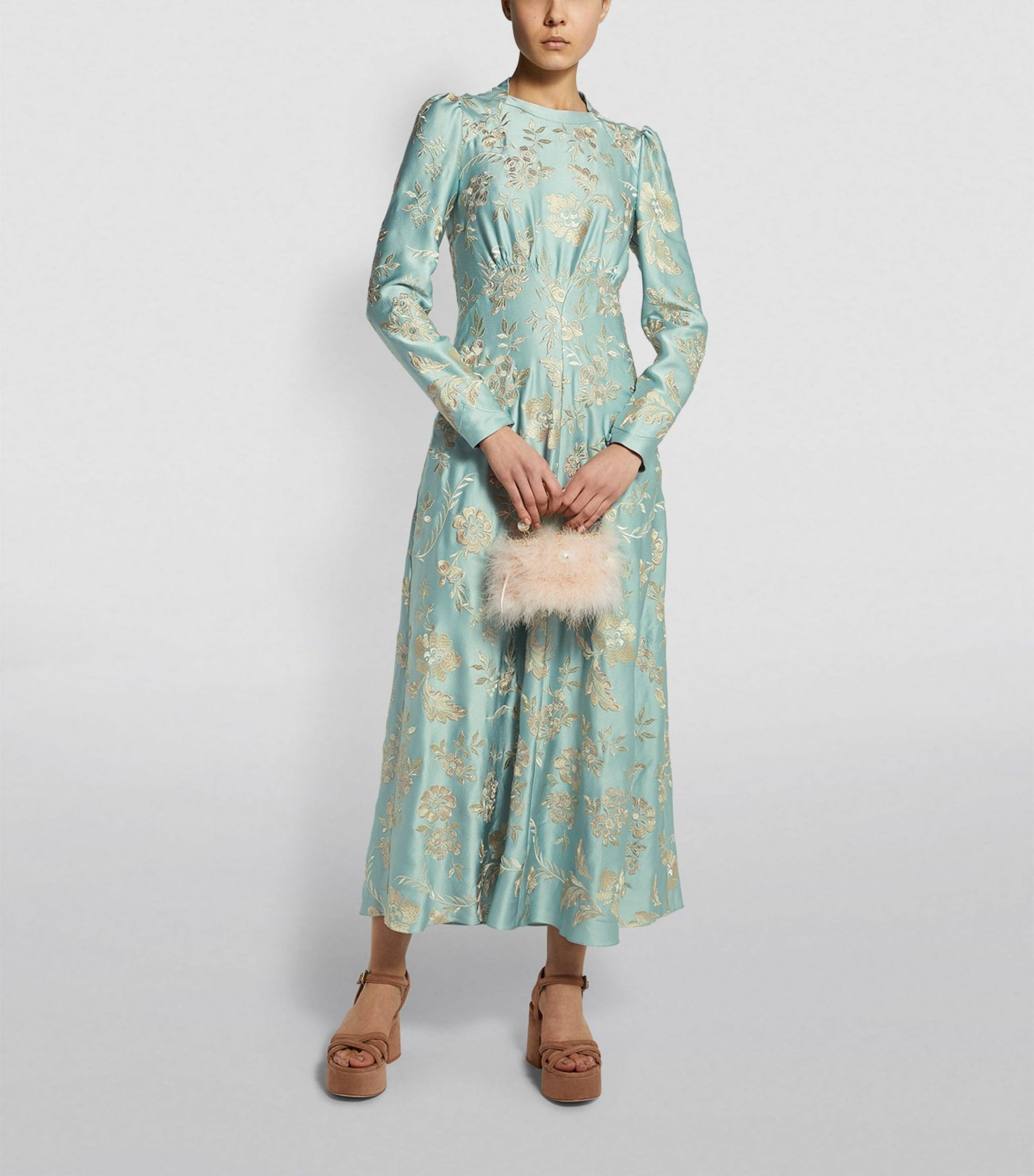 ERDEM Jacquard Brinton Maxi Dress
