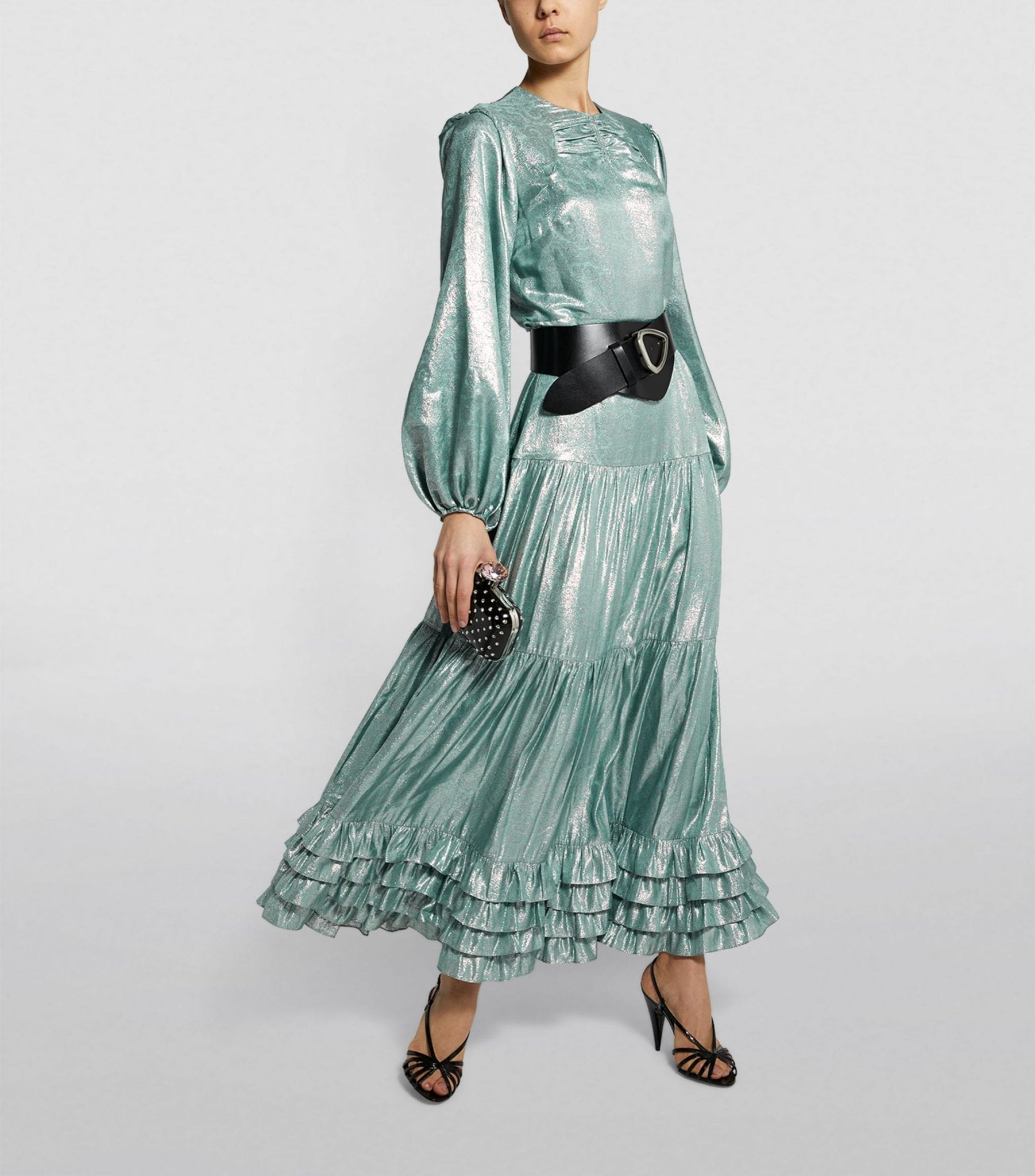 ERDEM Lurex Lucine Maxi Dress