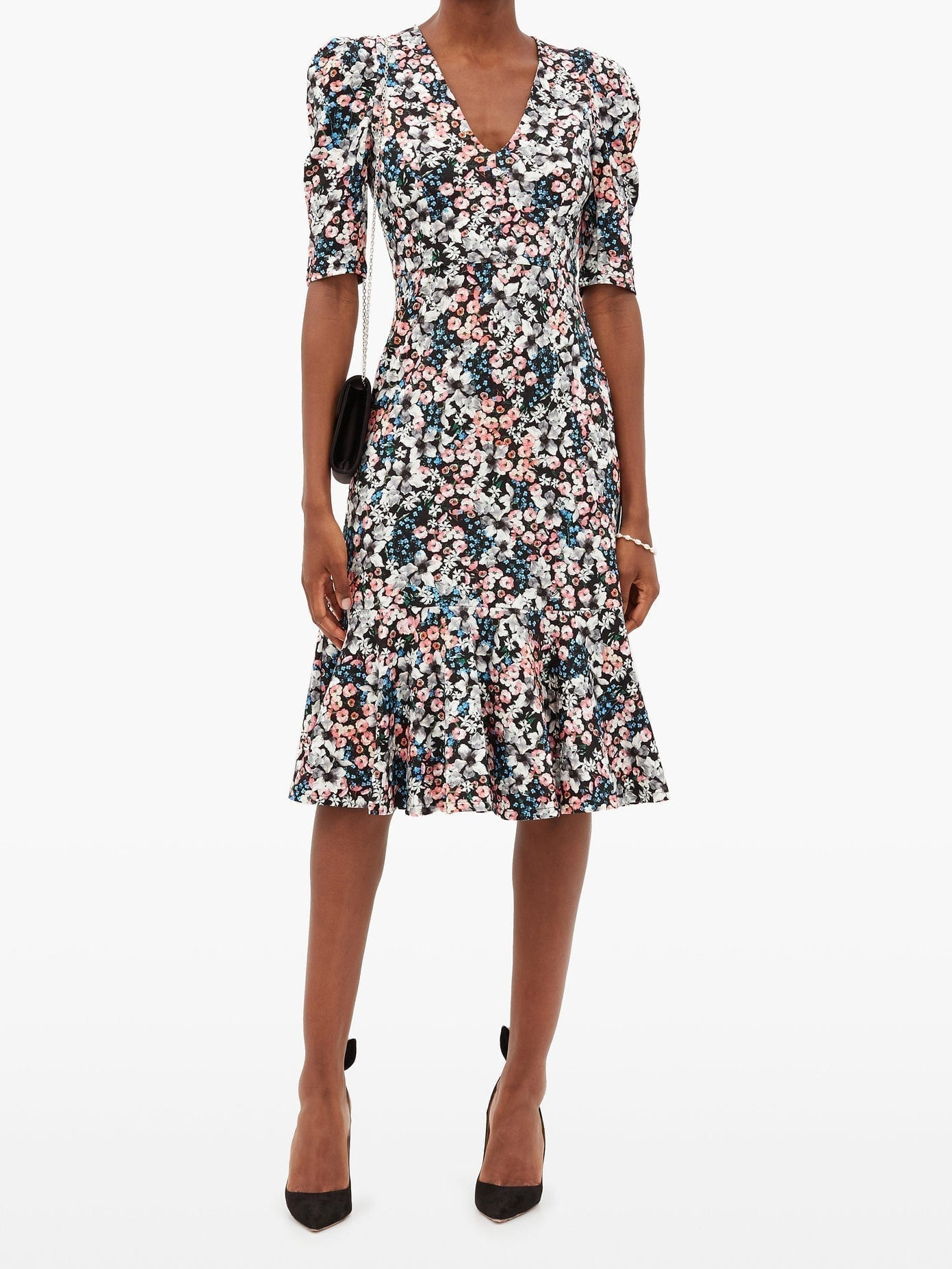 ERDEM Ottavia Meadow-print Jersey Dress