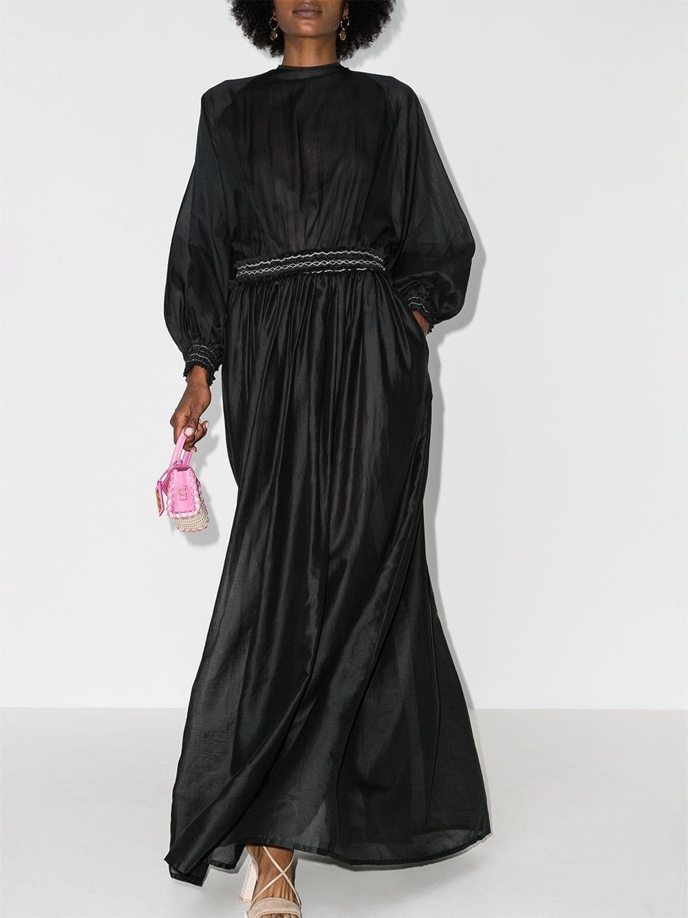 ESCVDO Borneo Gathered Maxi Dress