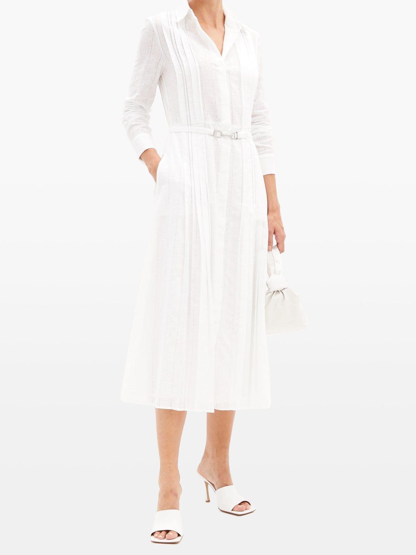 GABRIELA HEARST Vera Ladder-lace Cotton-voile Shirt Dress