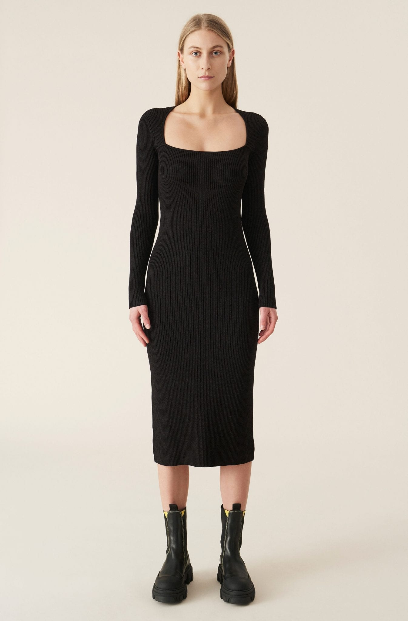 GANNI Melange Knit Dress