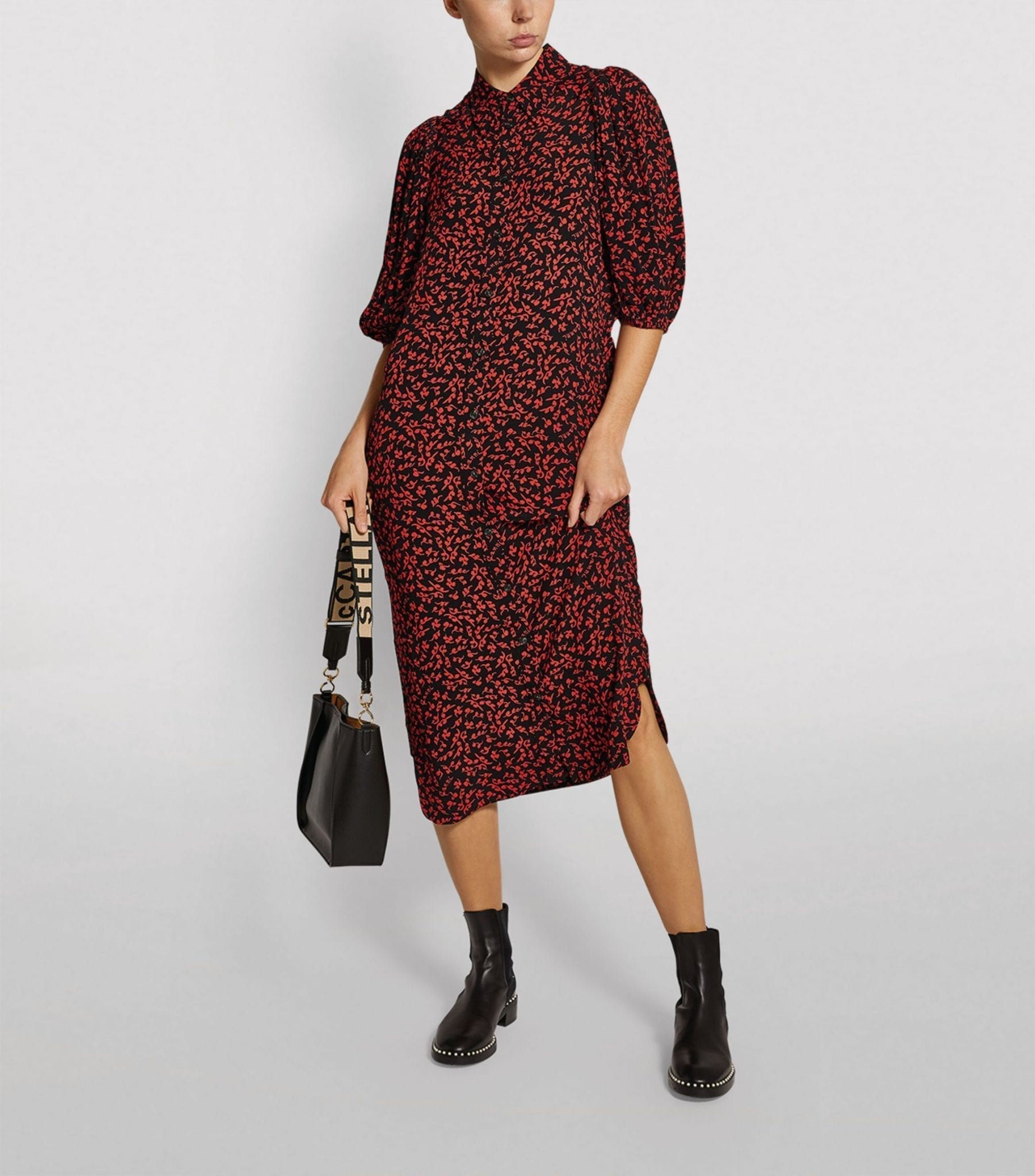 GANNI Printed Midi Dress