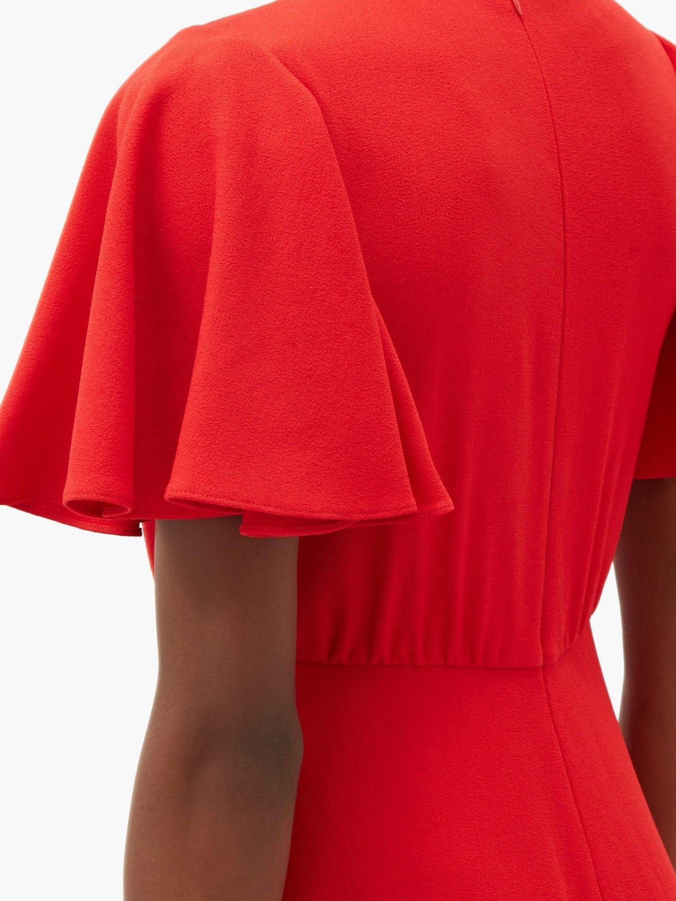 GIAMBATTISTA VALLI Knotted-neck Crepe Dress