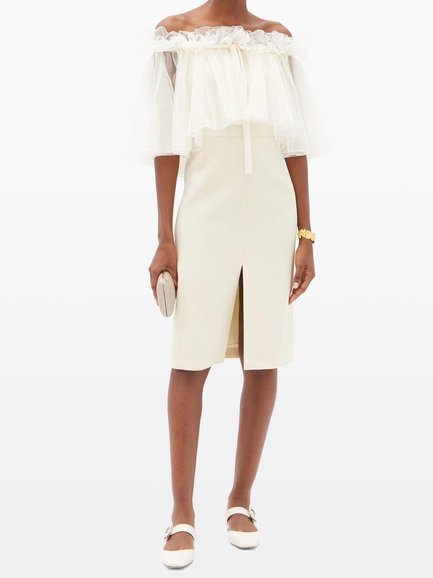 GIAMBATTISTA VALLI Off-the-shoulder Ruffled Cady Dress