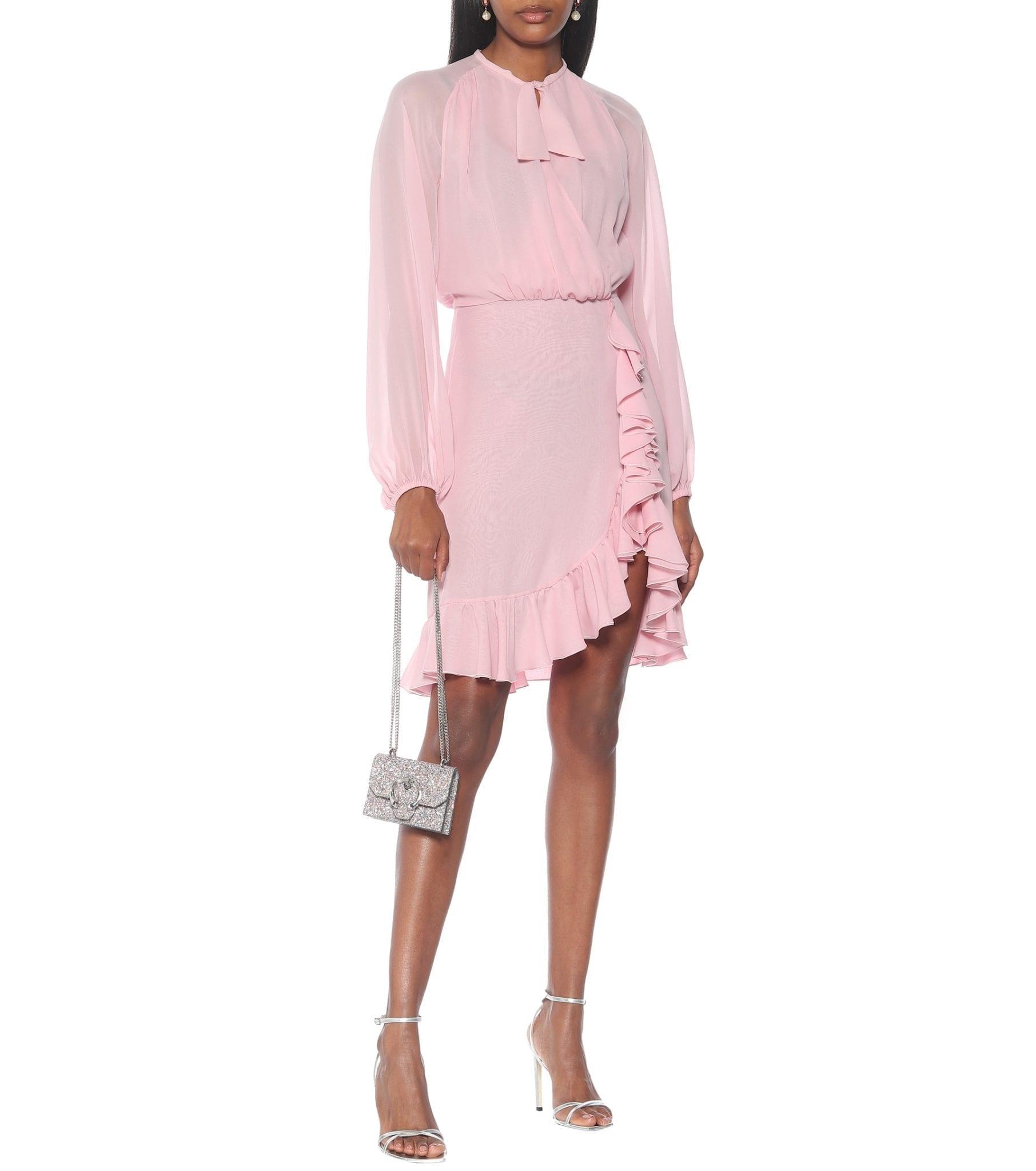 GIAMBATTISTA VALLI Silk Chiffon Mini Dress