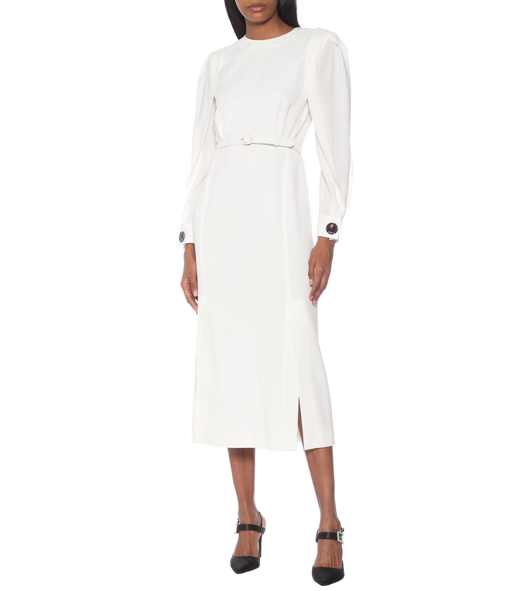 GIVENCHY Wool Crêpe Midi Dress