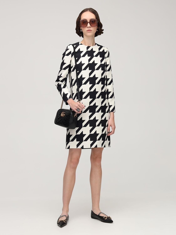 GUCCI Printed Silk & Wool Cady Dress