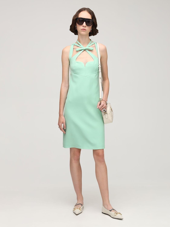 GUCCI Silk & Wool Cady Midi Dress