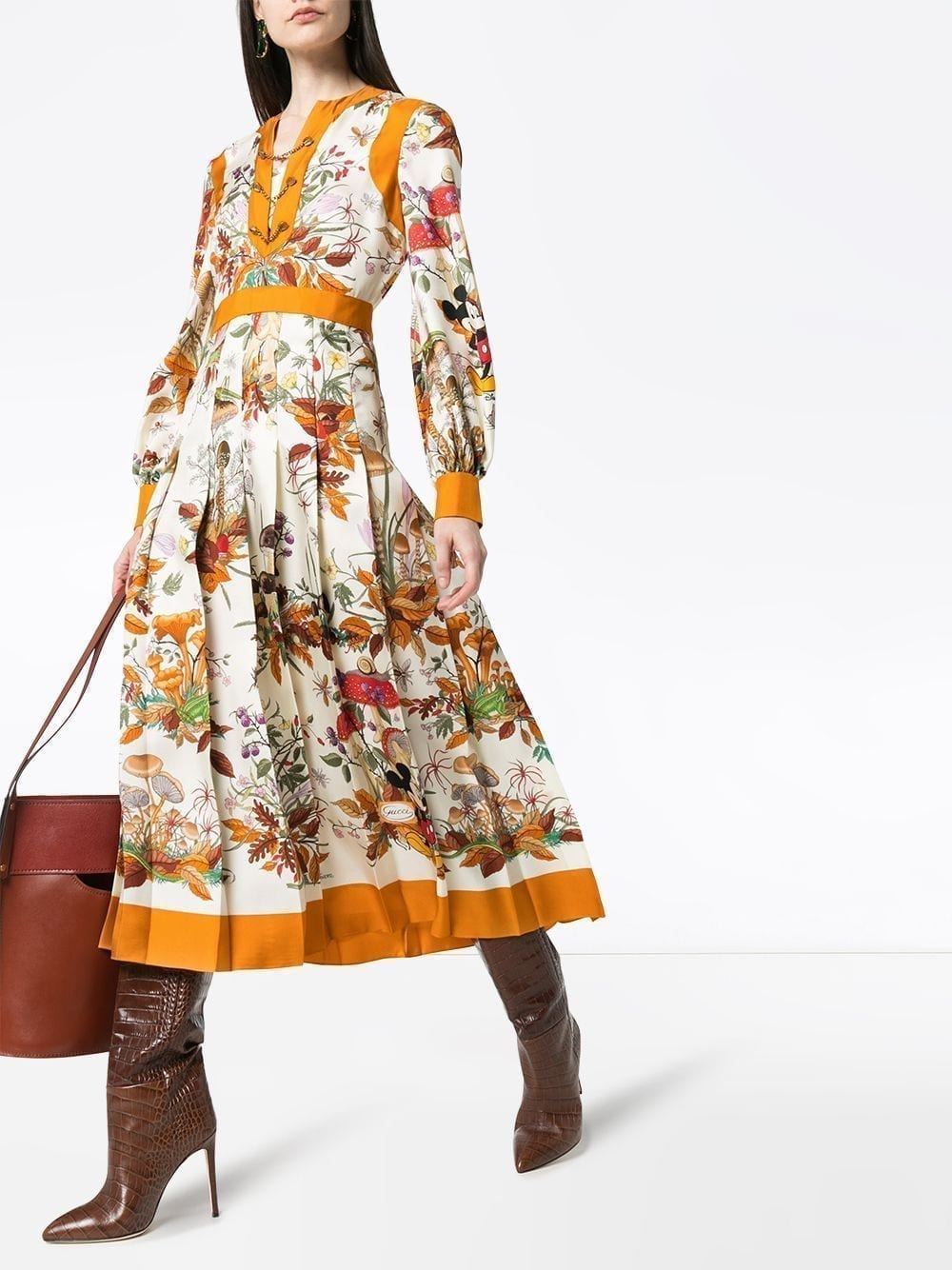 GUCCI X Disney Floral-print Midi Dress