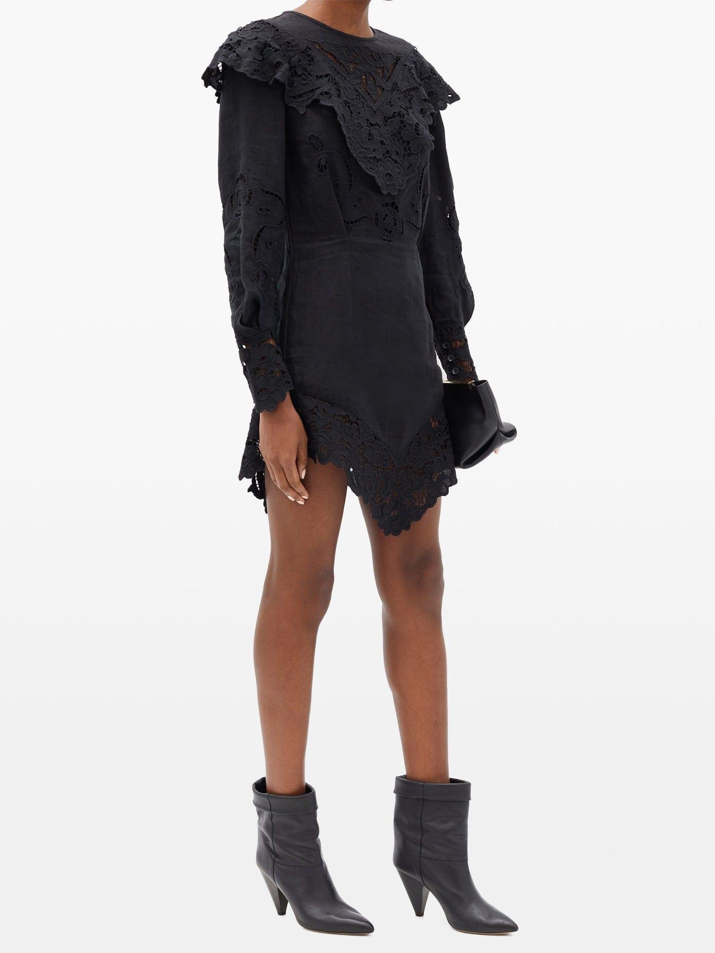 ISABEL MARANT Ellery Broderie-anglaise Linen Mini Dress