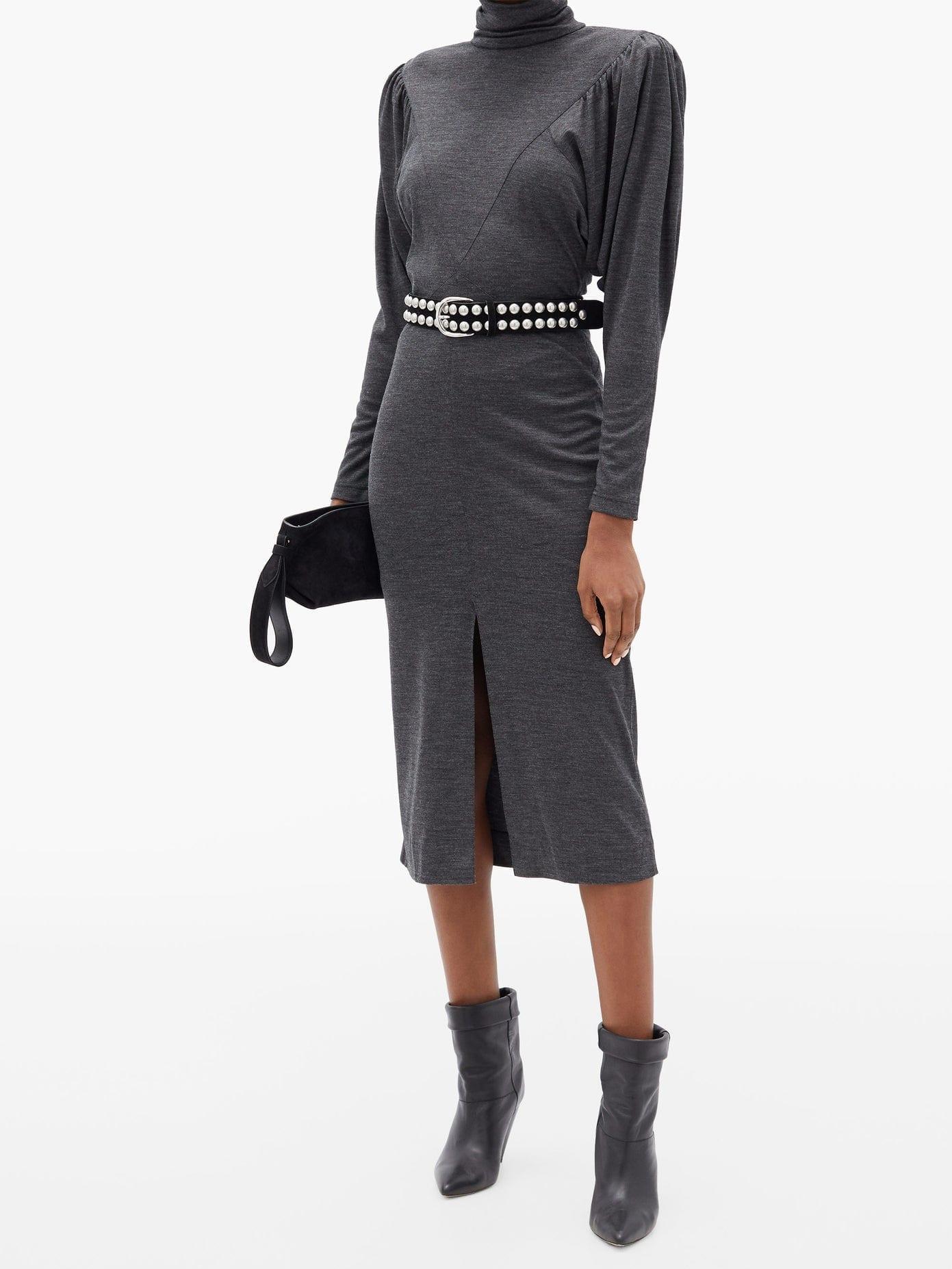 ISABEL MARANT Genia Mock-neck Mélange Dress