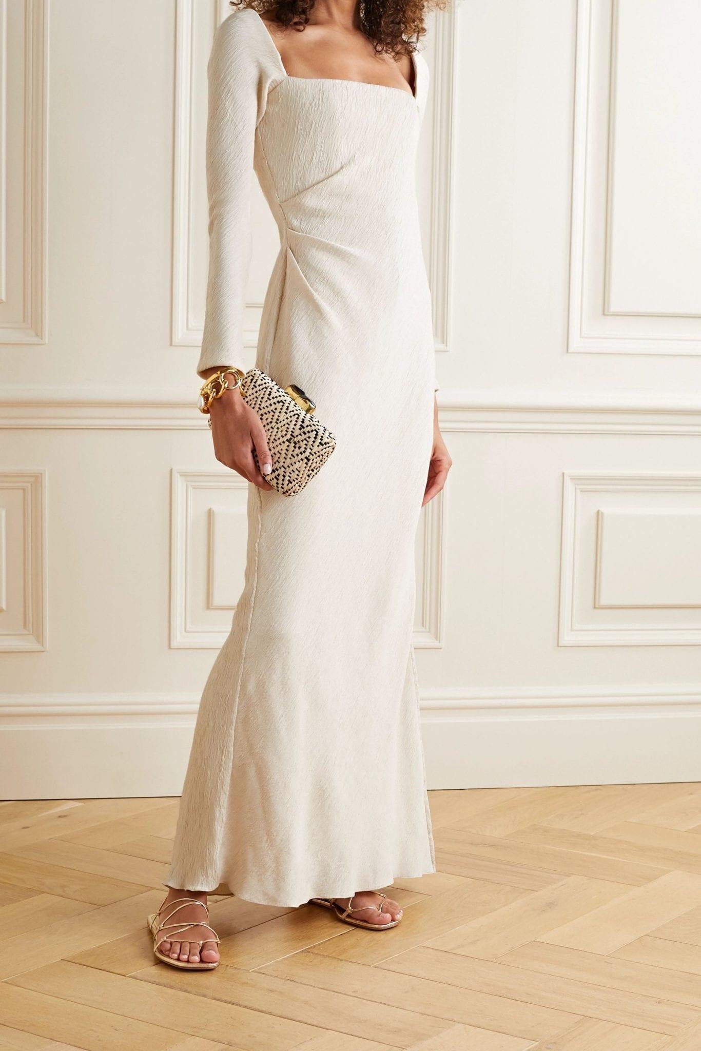 JOHANNA ORTIZ The Real Truth Draped Crinkled-crepe Maxi Dress