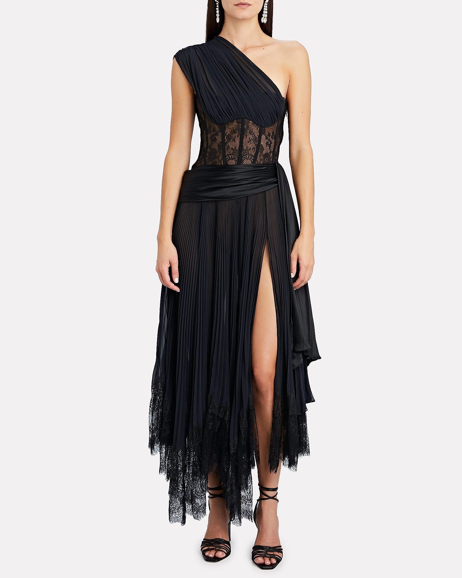 JONATHAN SIMKHAI Maude Lace Midi Dress